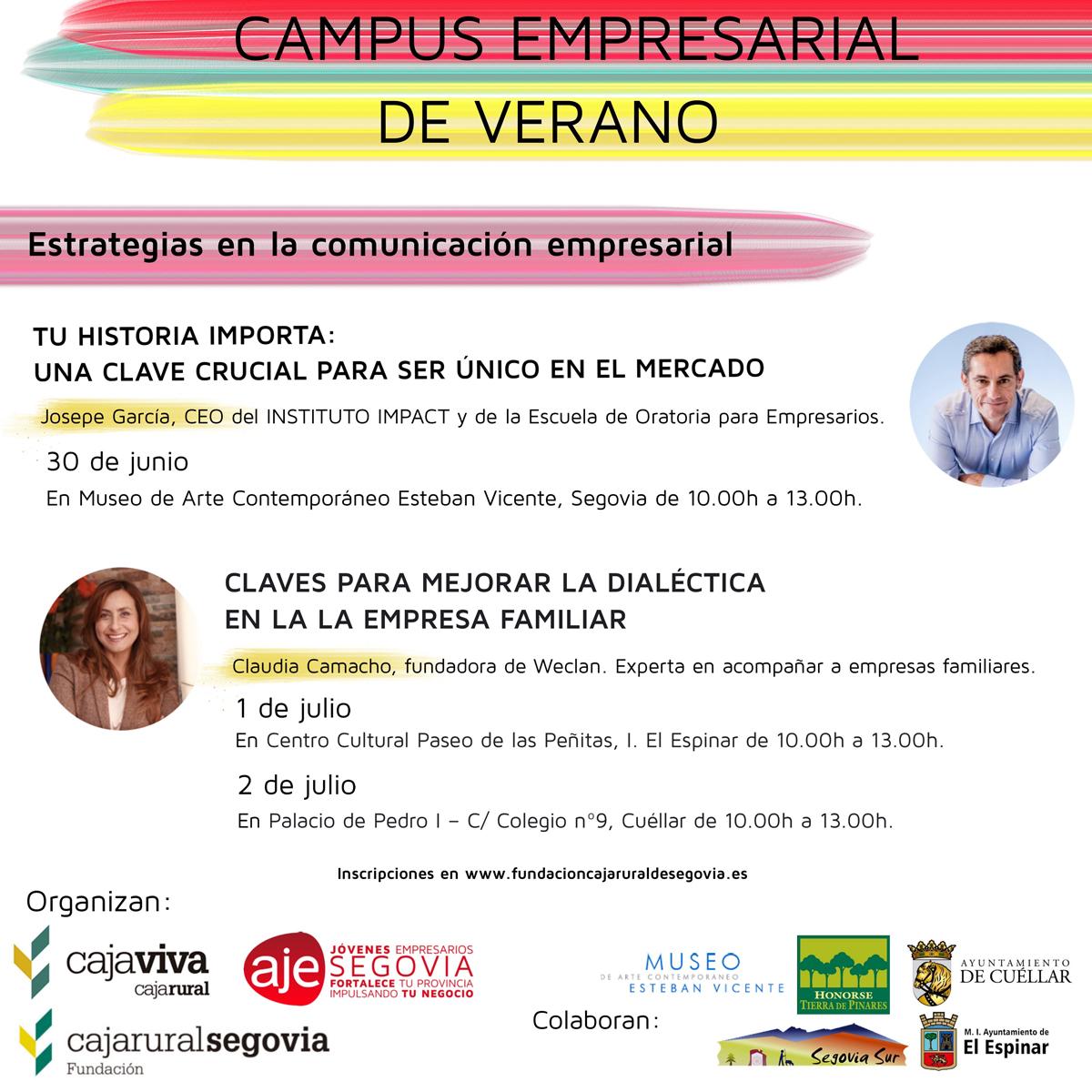 Vuelve el Campus Empresarial de Verano organizado por la Fundación Caja Rural, CajaViva Caja Rural, y la Asociación de Jóvenes Empresarios.